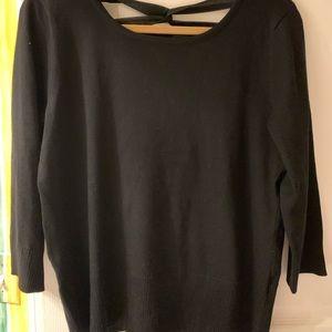 Black ribbon back sweater